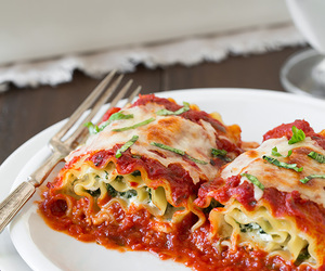 food, lasagna, and cheese image