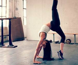 brunette, fashion, and fit image