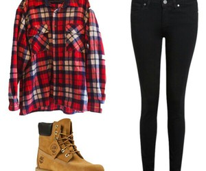 black jeans, fashion, and flannel image