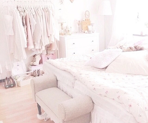 bedroom, girly, and clothes image