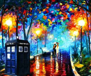tardis, doctor who, and art image