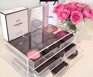 bedroom, makeup, and chanel image