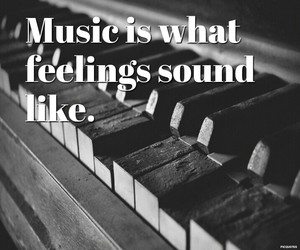 black and white, feelings, and music image