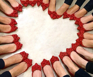 heart, red, and shoes image