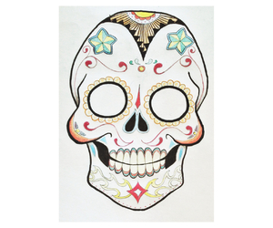 color, skull mexican, and drawing image