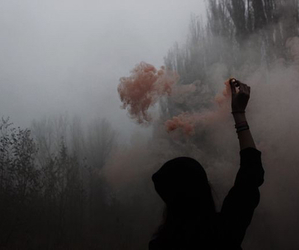 grunge, smoke, and dark image
