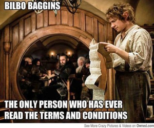 funny, bilbo baggins, and the hobbit image