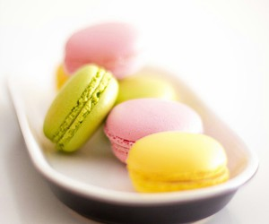 green, macarons, and food image