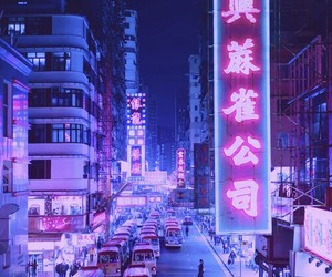 japan, city, and purple image
