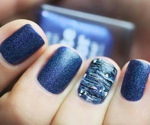 blue, nails, and nail art image