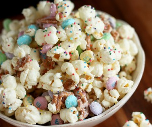 popcorn, food, and pastel image