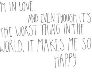love, happy, and text image