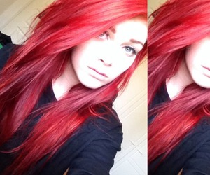 colored hair, red hair, and dyed hair image