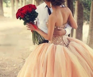 roses, beautiful, and dress image