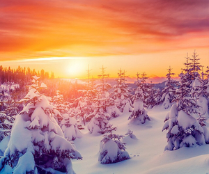 beutiful, snow, and sol image