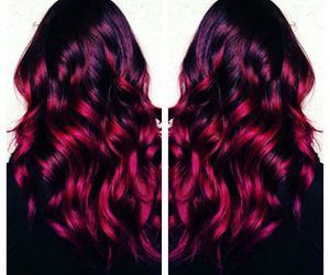 colored hair, curly hair, and hairstyle image