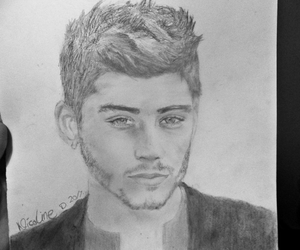 art, zayn, and drawing image