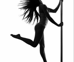 black, pole dance, and white image
