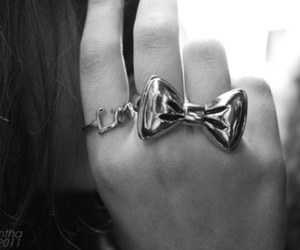 black, ring, and cute image
