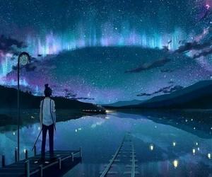 sky, art, and night image
