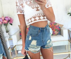 boho, fashion, and crop top image