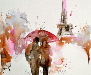 art, painting, and paris image
