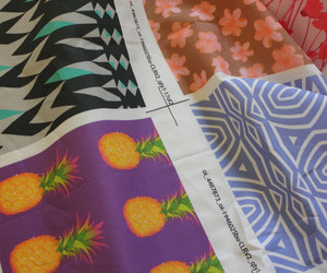 design, fabric, and pineapple image