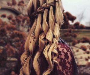 blonde, braid, and brown hair image