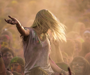festival, girl, and photography image