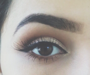 brown, eyes, and makeup image