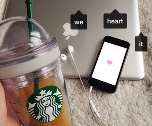 apple, coffee, and drink image