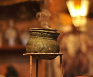 cauldron, incense, and magic image