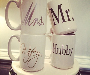 love, mug, and couple image