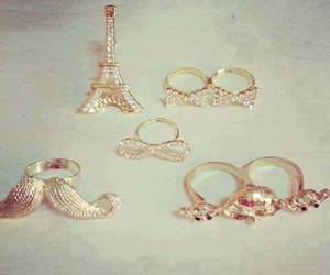 rings, paris, and gold image