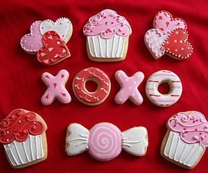 sweet, cupcake, and xoxo image