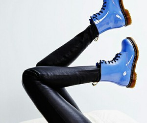blue, boots, and dr martens image