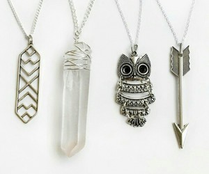 necklace, accessories, and owl image