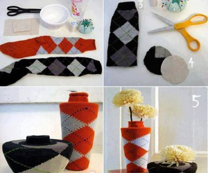 diy, socks, and flowers image