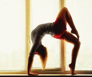 back bend, beautiful, and girl image