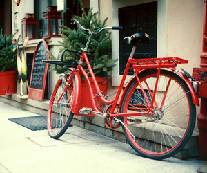 bike, red, and vintage image