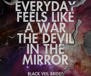 black veil brides and devil in the mirror image