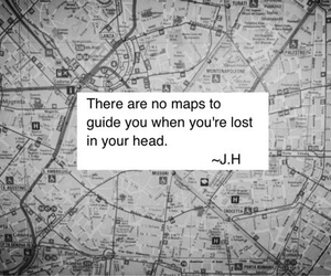 lost, quote, and map image