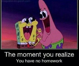 homework and patrick image