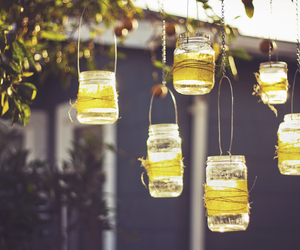 candles, diy, and mason jars image