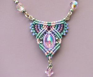 Macrame, necklace, and micro macrame image