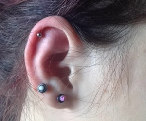 ears, girl, and helix image