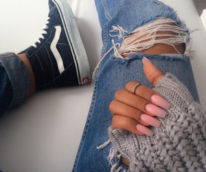 nails, style, and vans image