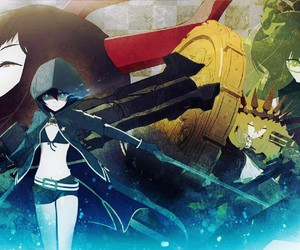 black rock shooter, chariot, and black gold saw image