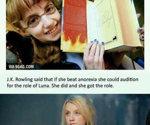 harry potter, luna, and jk rowling image
