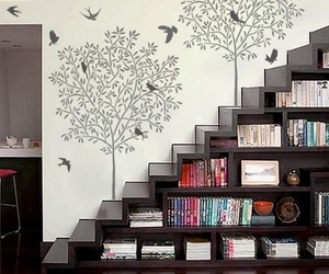 book, home, and stairs image